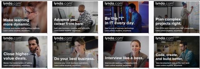 lynda.com banners