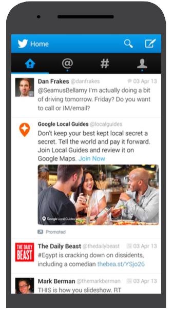 Google Local Twitter